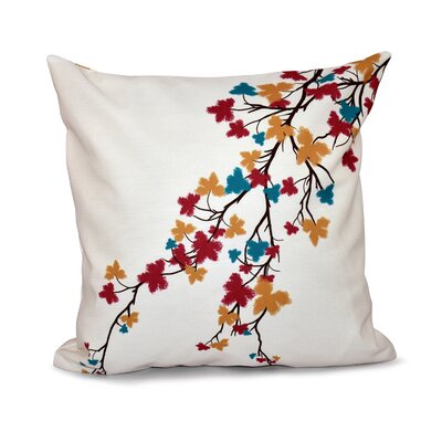 Agawam Flower Print Throw Pillow Size: 16