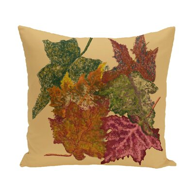 Agnes Flower Print Throw Pillow Size: 16 H x 16 W, Color: Gold