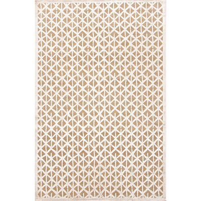 Ada Taupe/Ivory Area Rug Rug Size: 2 x 3