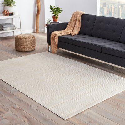 Ada Ivory & Taupe Area Rug Rug Size: Rectangle 76 x 96