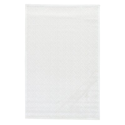 Ada Tufted Bright White/ White Sand Area Rug Rug Size: Rectangle 76 x 96