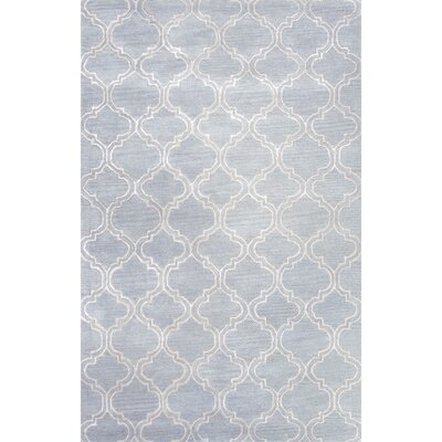 Orson Blue/Ivory Area Rug Rug Size: 36 x 56
