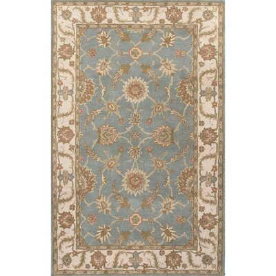 Natalie Blue/Ivory Oriental Area Rug Rug Size: Round 8