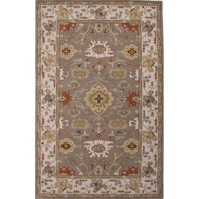Salford Ivory/Gray Oriental Area Rug Rug Size: 2' x 3'