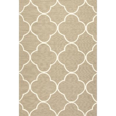 Alder Geometric Taupe & Ivory Indoor/Outdoor Area Rug Rug Size: 36 x 56