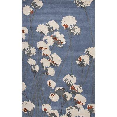 Brookline Blue/Ivory Floral Area Rug Rug Size: 2 x 3
