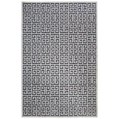 Ada Blue/Gray Area Rug Rug Size: 5 x 76