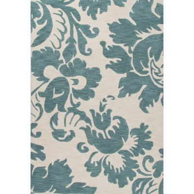 Norton Hand-Tufted Blue/Ivory Area Rug Rug Size: 5 x 76
