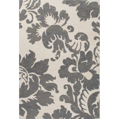 Norton Hand-Tufted Gray/Ivory Area Rug Rug Size: 2 x 3