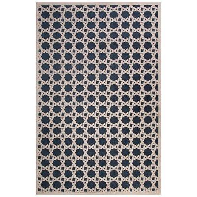 Ada Blue/Ivory Area Rug Rug Size: 9 x 12