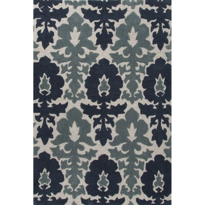 Norton Hand-Tufted Blue/Gray Area Rug Rug Size: 2 x 3