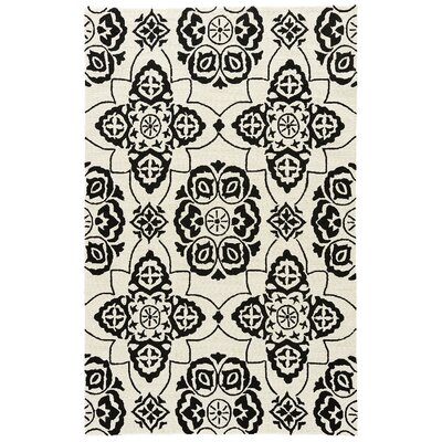 Alder Rutabaga/Caviar Indoor/Outdoor Area Rug Rug Size: Rectangle 76 x 96