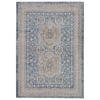 Thebes Blue Area Rug Rug Size: Rectangle 2 x 3