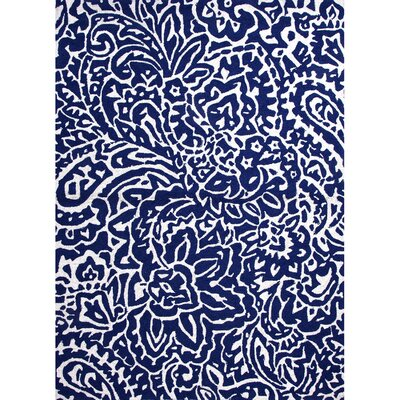 Alder Flores Blue Indoor/Outdoor Area Rug Rug Size: 2 x 3