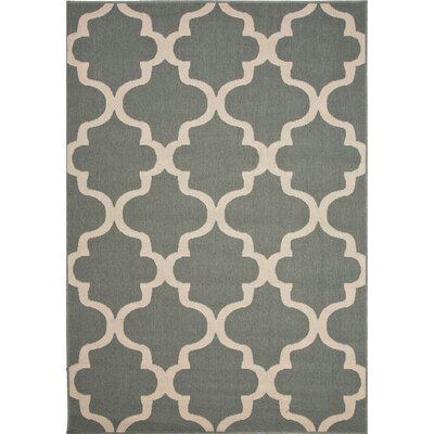 Thomasboro Blue/Ivory Indoor/Outdoor Area Rug Rug Size: 53 x 76
