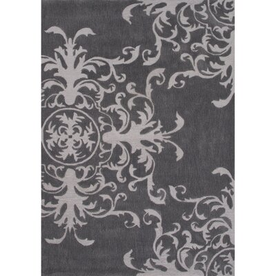 Norton Polyester Gray Hand Tufted Area Rug Rug Size: 5 x 76