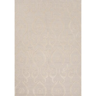 Norton Polyester Hand Tufted Ivory/White Area Rug Rug Size: 5 x 76