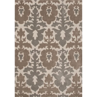 Norton Polyester Hand Tufted Taupe/Tan Area Rug Rug Size: 5 x 76