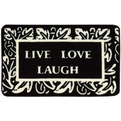 Poquonock Black/White Live, Laugh, Love Area Rug