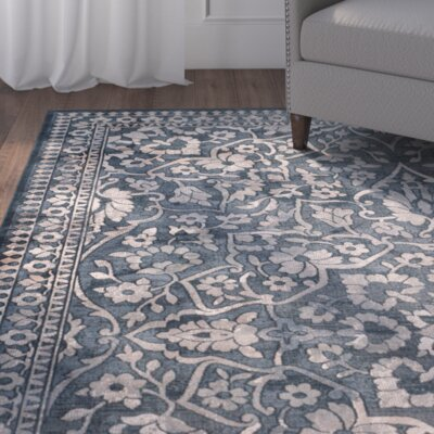 Columbus Dark Blue/Beige Area Rug