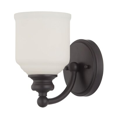Genevieve 1-Light Wall Sconce Base Finish: English Bronze