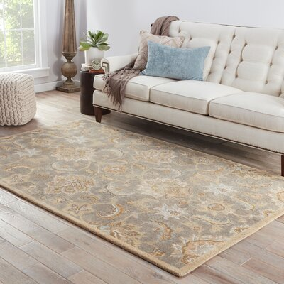 Thornhill Gray/Tan Area Rug Rug Size: 4 x 8