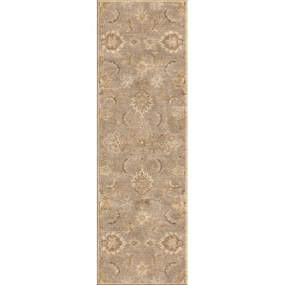 Thornhill Gray/Tan Area Rug Rug Size: Runner 3 x 12