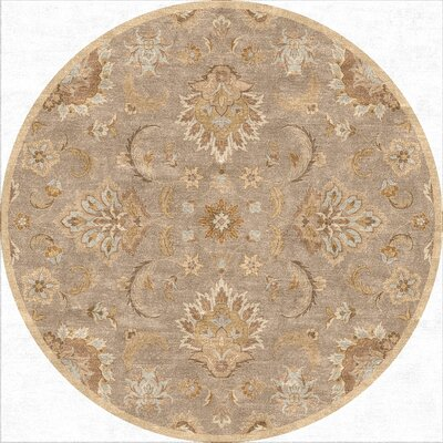 Thornhill Gray/Tan Area Rug Rug Size: Round 8 x 8