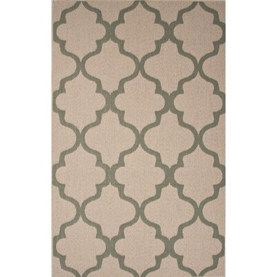 Tibbetts Taupe/Blue Indoor/Outdoor Area Rug Rug Size: 2 x 37