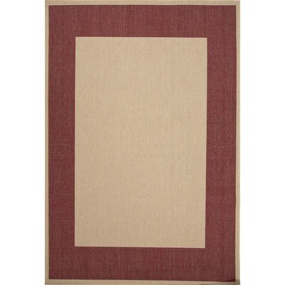 Schilling Taupe & Red Indoor/Outdoor Area Rug