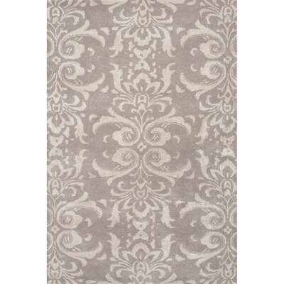 Tiedemann  Wool and Art Silk Hand Tufted Light Gray Area Rug Rug Size: 8 x 11