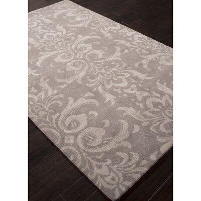Tiedemann  Wool and Art Silk Hand Tufted Light Gray Area Rug Rug Size: 5 x 8