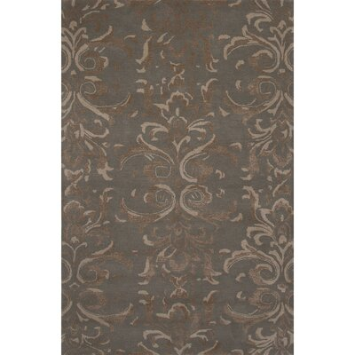 Tiedemann Wool and Art Silk Hand Tufted Abbey Stone Area Rug Rug Size: 5 x 8