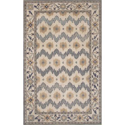 Tiemann Wool Hand Tufted Blue/Taupe Area Rug Rug Size: 8 x 11