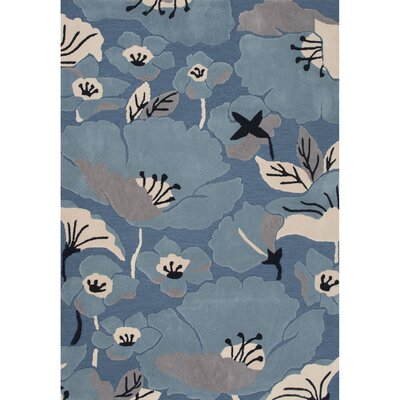 Thornsberry Polyester Hand Tufted Blue/Taupe Area Rug Rug Size: 76 x 96