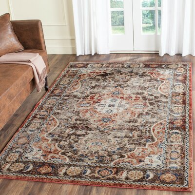 Broomhedge Brown/Rust Area Rug Rug Size: 4 x 6