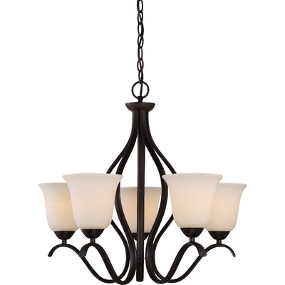 Ehrlich 5-Light Shaded Chandelier Finish: Forest Bronze