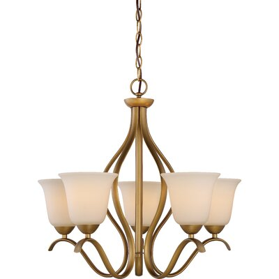 Cullins 5-Light Shaded Chandelier Finish: Natural Brass