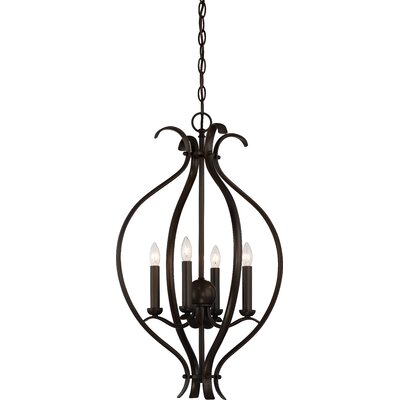 Ehrlich 4-Light Foyer Pendant Finish: Forest Bronze
