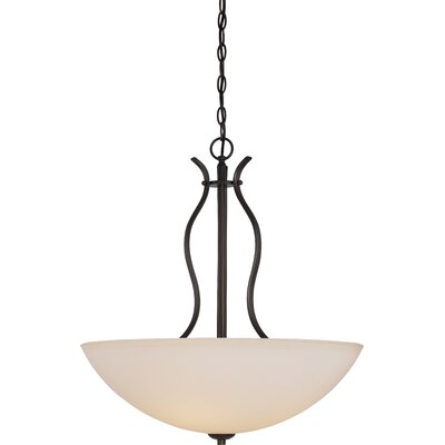 Cullins 4-Light Bowl Pendant Finish: Forest Bronze