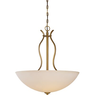 Cullins 4-Light Bowl Pendant Finish: Natural Brass