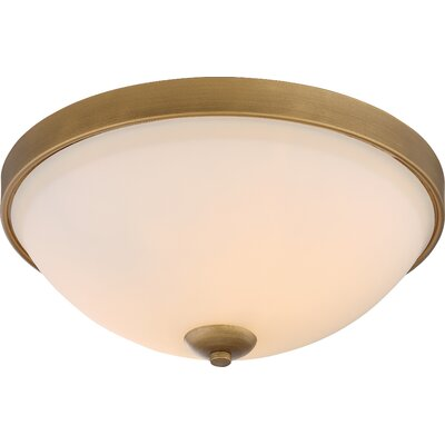 Ehrlich 2-Light Flush Mount Finish: Natural Brass