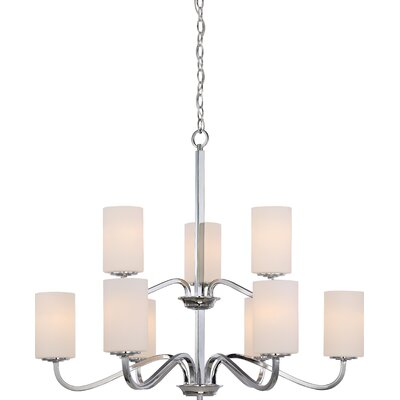 Tillmon 2 Tier 9 Light Shaded Chandelier