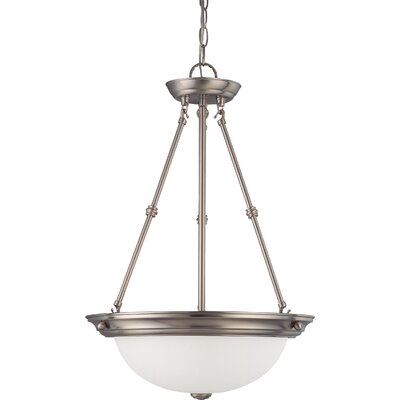 Tindall 3-Light LED Inverted Pendant Finish: Brushed Nickel