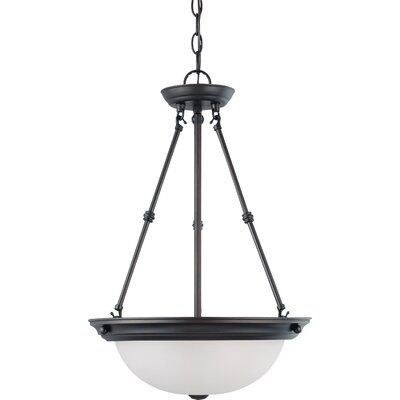 Tindall 3-Light LED Inverted Pendant Finish: Mahogany Bronze