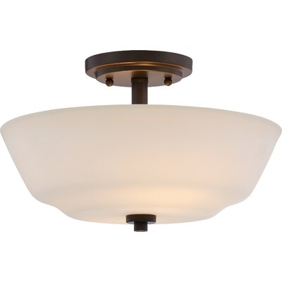 Torbett 2-Light Semi Flush Mount Finish: Forest Bronze