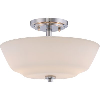Torbett 2-Light Semi Flush Mount Finish: Polished Nickel