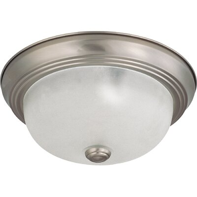 Toulon 2-Light Flush Mount Finish: Brushed Nickel, Size: 4.88 H x 11.38 W x 11.38  D