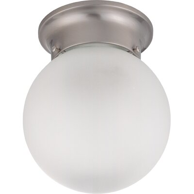 Tovey 1-Light LED Semi Flush Mount Finish: Brushed Nickel