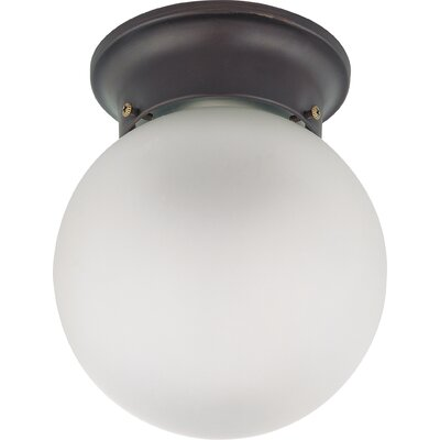 Tovey 1-Light Semi Flush Mount Finish: Mahogany Bronze